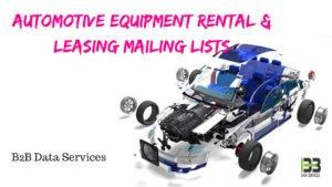 Automotive Equipment Rental & Leasing Mailing lists